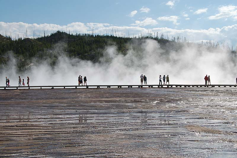 Yellowstone tour, beautiful geysers