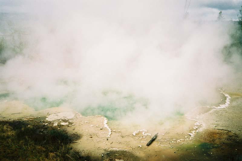 Great geyser in Yellowstone