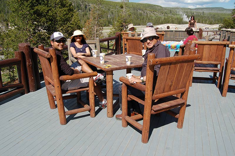 Lunch time in Yellowstone