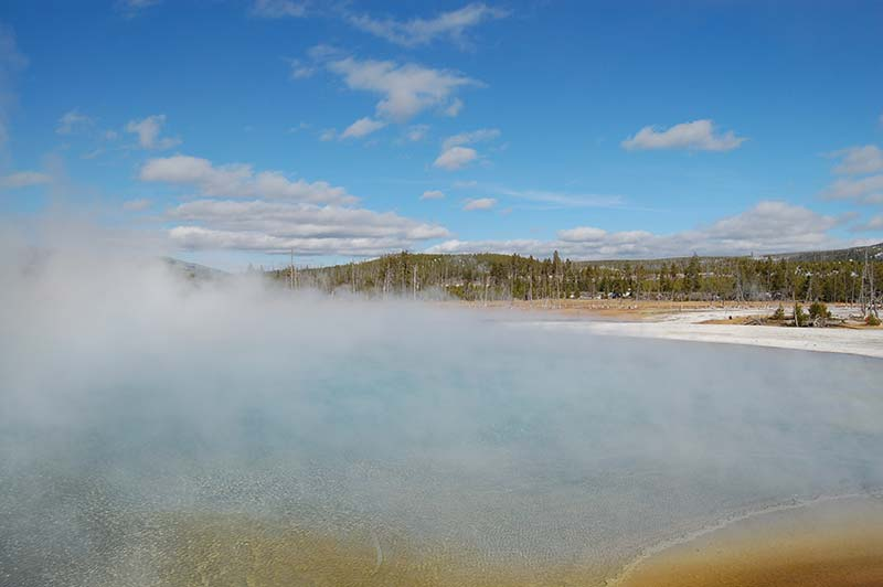 Yellowstone Geyser and Prismatic Spring