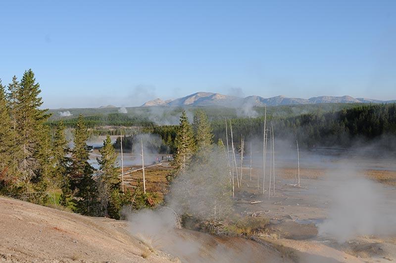 Beautiful Yellowstone geyser