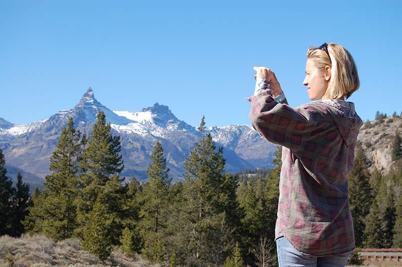People enjoying at Yellowstone