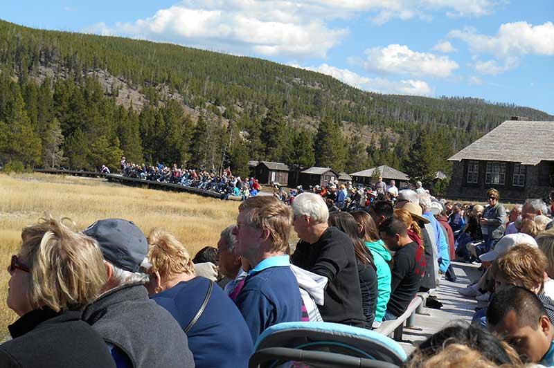 People in yellowstone